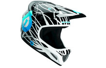 SixSixOne Evo Wired Helm schwarz/cyan